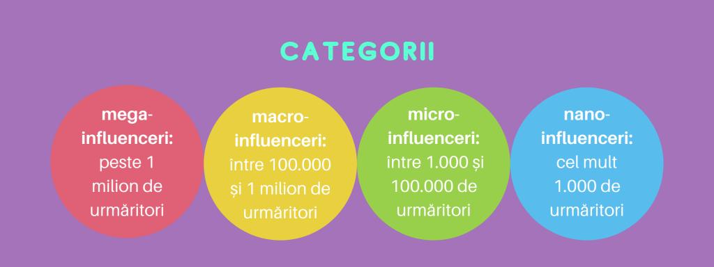 Categorii de influenceri