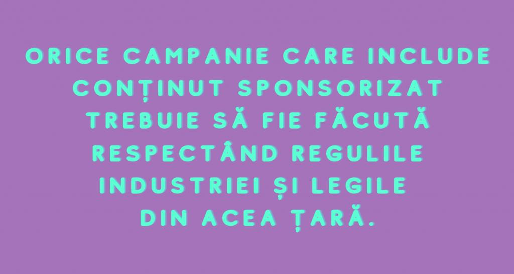 Campanie care include conținut sponsorizat