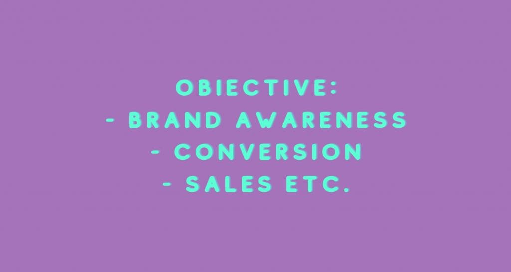Obiective campanii cu influenceri