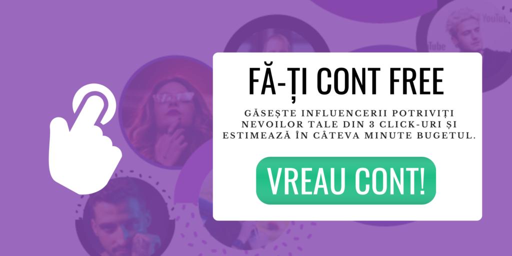 Cont free MOCAPP - platforma influencer marketing