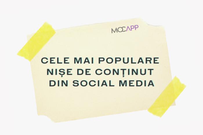 Cele mai populare nișe de conținut din Social Media