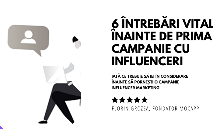 MOCAPP Campanie cu Influenceri